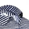 Weißes diagonal gestreiftes 2 PLY Organic Baumwollhemd.
