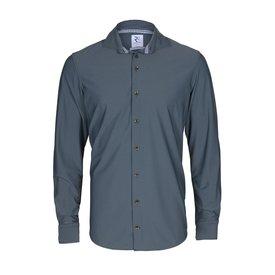 Dunkelgrünes Jersey-Hemd.