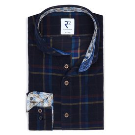 Dark blue check Corduroy shirt.