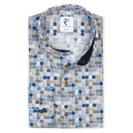 Light blue graphical print cotton shirt.