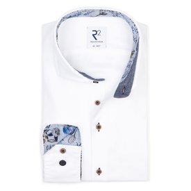 Wit Flanel katoenen overhemd.