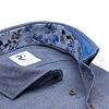 Blauw flanel katoenen overhemd.