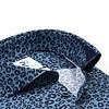 Blaues Pantherdruck 2 PLY Baumwollhemd.