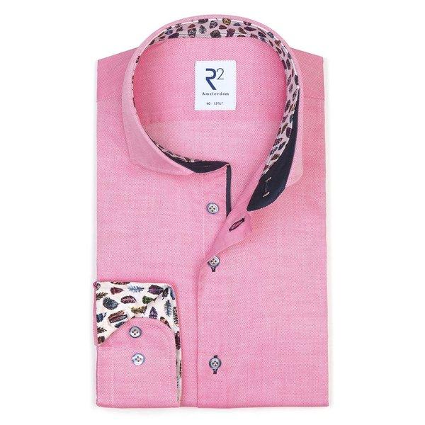 Pink cotton shirt.