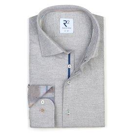 Grijs Flanel katoenen overhemd.