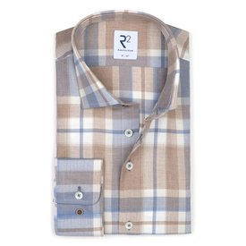 R2 Checkered flanel cotton shirt.