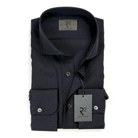 Navy blue 100% wool shirt.