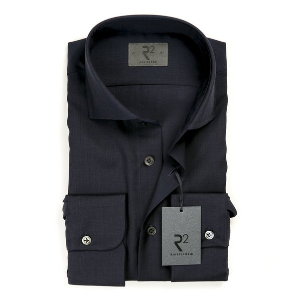 R2 Navy blue 100% wool shirt.