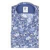 Baumwollhemd mit königlichem Blaudruck