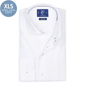 R2 Extra Long Sleeves. White non-iron cotton shirt.