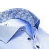Lichtblauw 2 PLY katoenen overhemd.