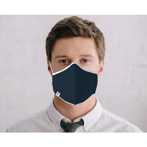 Navy blue cotton face mask
