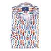 Korte mouwen multicolour surfplanken katoenen overhemd.