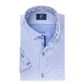R2 Short sleeved blue cotton shirt.