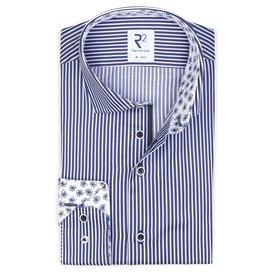 R2 Blue striped cotton shirt.