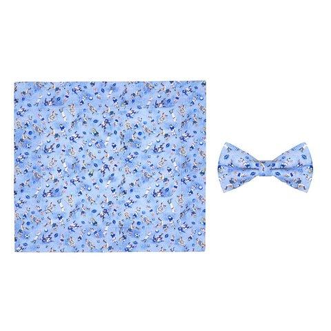 Kids sports print cotton bow tie.