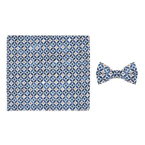 Kids graphic print cotton bow tie.