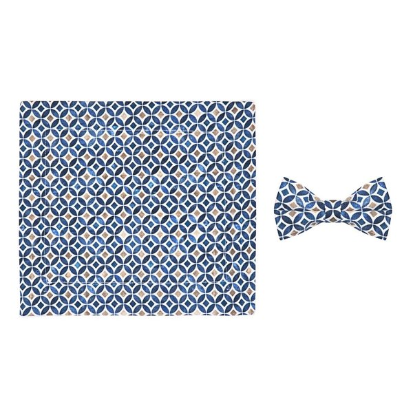 R2 Kids graphic print cotton bow tie.