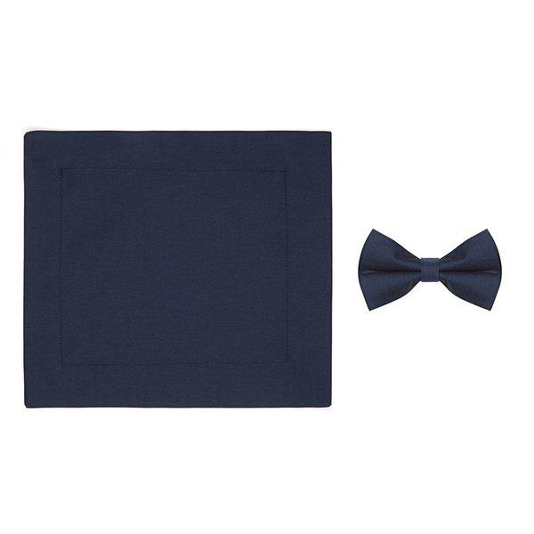 R2 Kids blue cotton bow tie.
