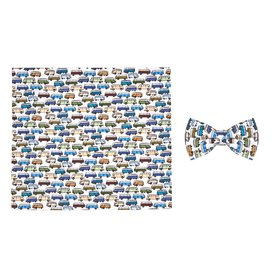 R2 Kids VW bus print cotton bow tie.