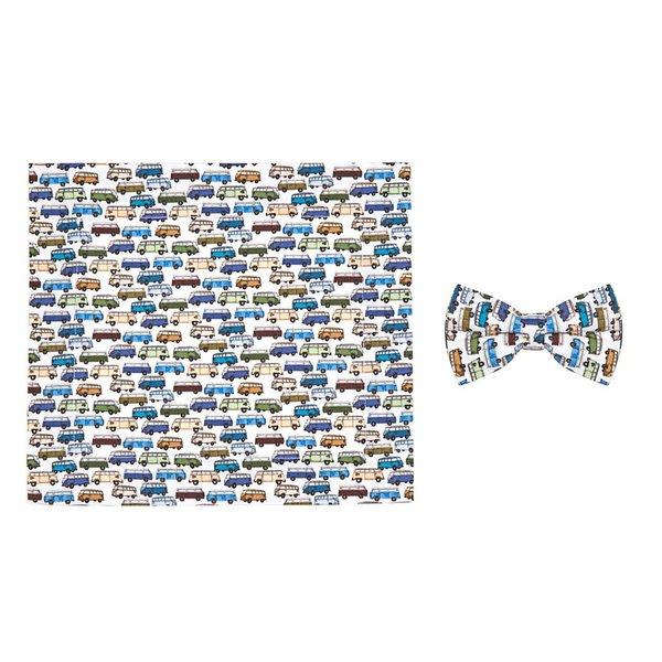 R2 Kids VW bus print cotton bow tie.