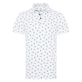 R2 Kids cycling print polo.