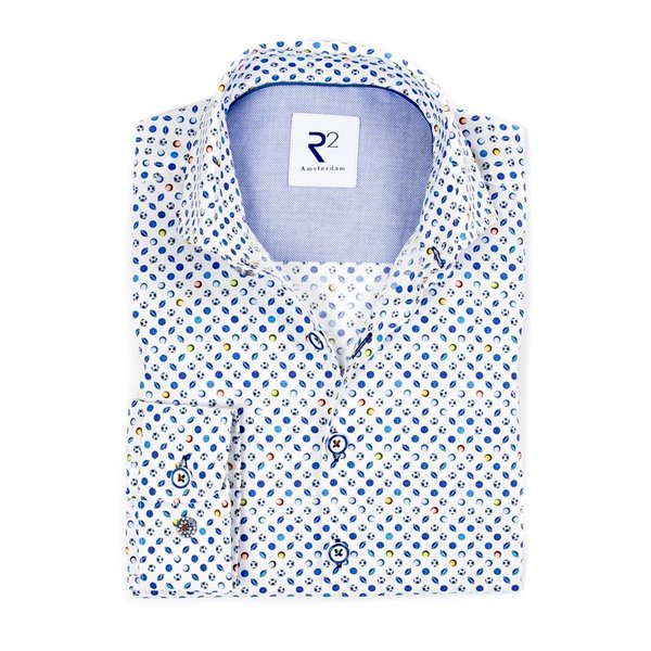 R2 Kids sports print cotton shirt.