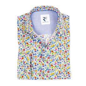 R2 Kids sports print cotton shirt.