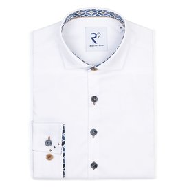 R2 Kids white cotton shirt.