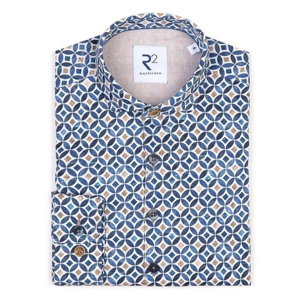 R2 Kids multicolour graphic print cotton shirt.