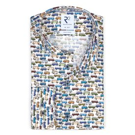 R2 Kids VW bus print cotton shirt.