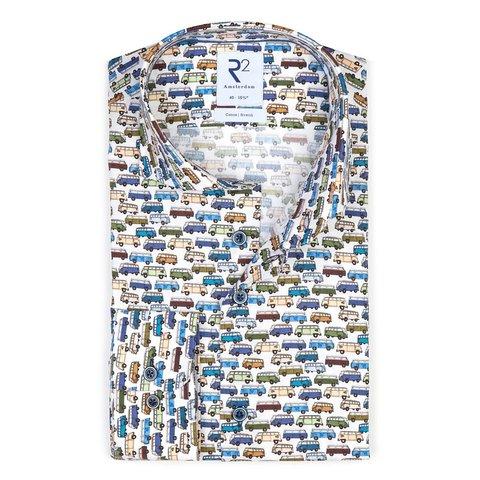 Kids VW bus print cotton shirt.
