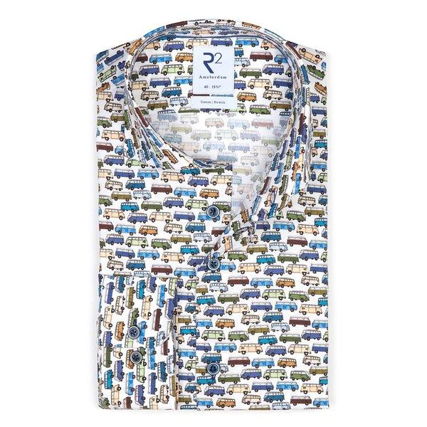 R2 Kids VW bus print cotton shirt.