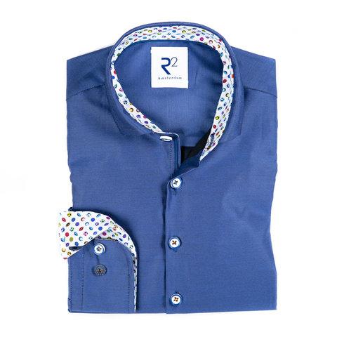Kids blue cotton shirt.