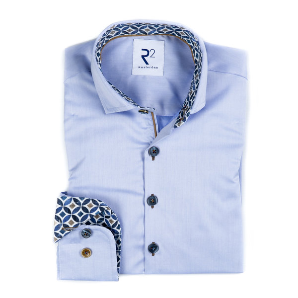 R2 Kids blue cotton shirt.
