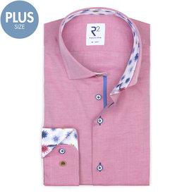 R2 Plus Size Fit. Fuchsia cotton shirt.