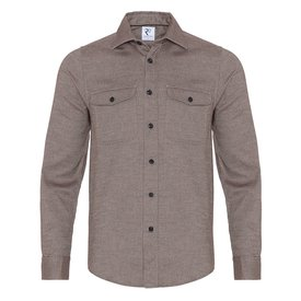R2 Brown 2 PLY cotton overshirt.