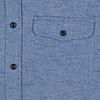 Kobaltblaues Oxford Baumwoll-Overshirt.
