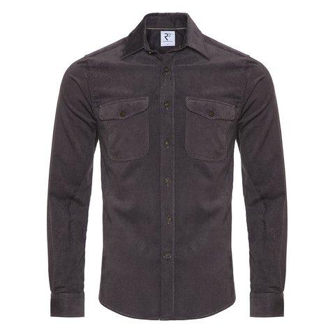Grey corduroy cotton overshirt.