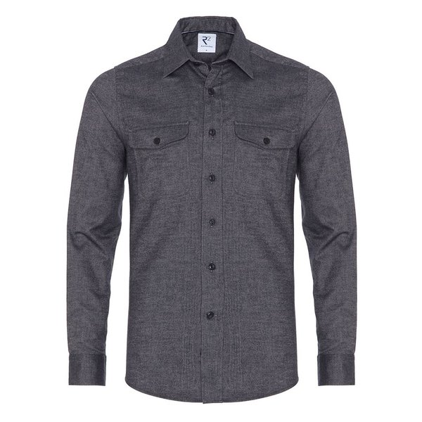 R2 Dark blue cotton overshirt.