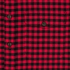 Red checkered herringbone cotton overshirt.