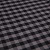 Grey checkered herringbone cotton overshirt.