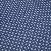 Blaues Blumendruck Kord Baumwoll-Overshirt.