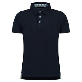 R2 Kids dark blue polo.