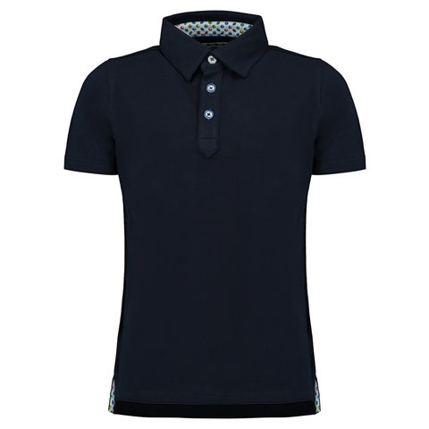 Kids dark blue polo.