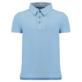 R2 Kids light blue polo.