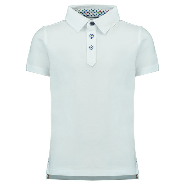 R2 Kids witte polo.