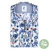 White floral print organic cotton shirt.