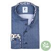 Blauw 2 PLY organic cotton overhemd.