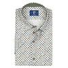 Short sleeved multicolour floral print cotton shirt.